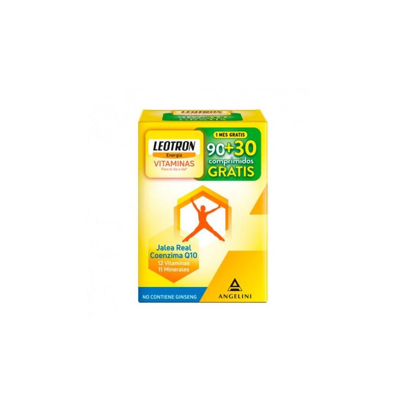 LEOTRON VITAMINAS COMPRIMIDOS RANURADOS 90+30 gratis.