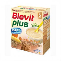 BLEVIT PLUS DUPLO 8CEREALES MIEL GALLETA 600 G