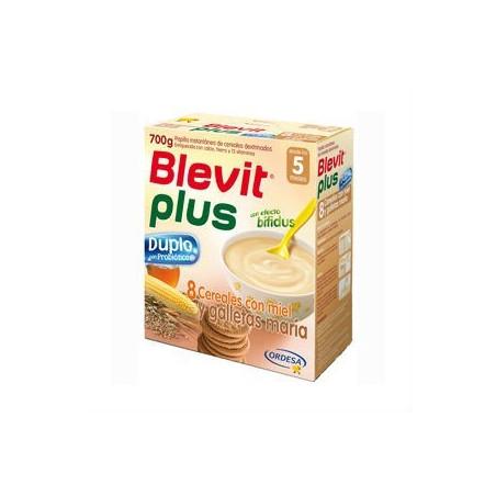 BLEVIT PLUS DUPLO 8CEREALES MIEL GALLETA 600 G