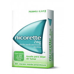NICORETTE 2 mg CHICLES MEDICAMENTOSOS
