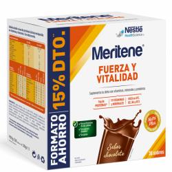 MERITENE FUERZA Y VITALIDAD PACK AHORRO CHOCOLATE 30 SOBRES