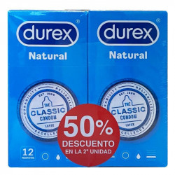 DUREX NATURAL PLUS PRESERVATIVOS DUPLO 2x12U