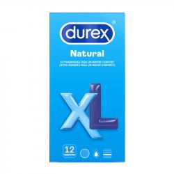 DUREX NATURAL XL PRESERVATIVOS 12U