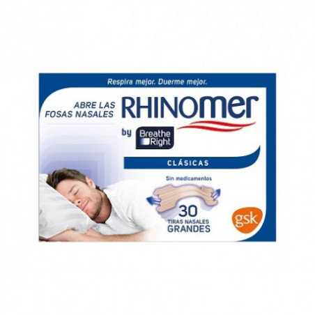 RHINOMER BREATHE RIGHT TIRAS NASALES