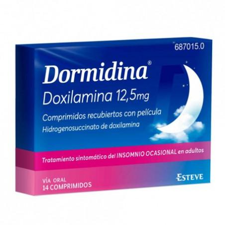 DORMIDINA DOXILAMINA 12,5 mg COMPRIMIDOS RECUBIERTOS CON PELICULA