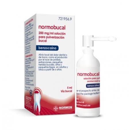 NORMOBUCAL 200 MG/ML SOLUCION PARA PULVERIZACION BUCAL