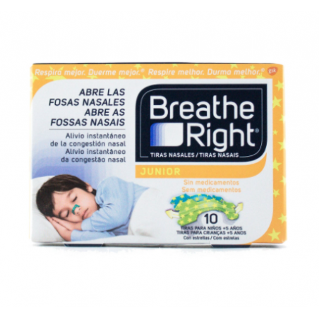 BREATHE RIGHT TIRA NASAL JUNIOR NIÑOS 10U