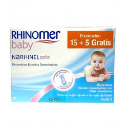 RHINOMER BABY NARHINEL CONFORT RECAMBIOS BLANDOS DESECHABLES 20U