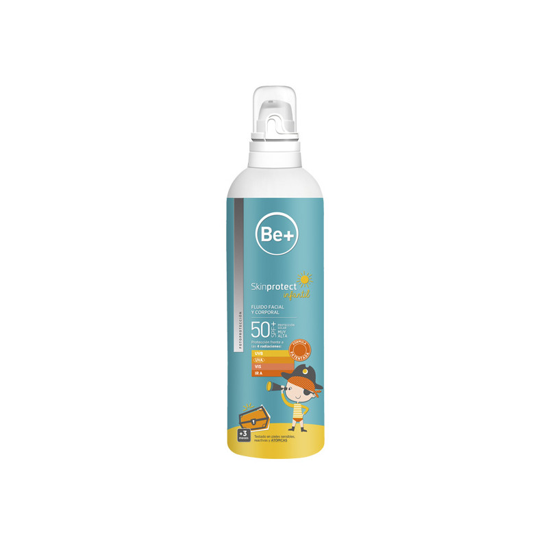 BE+ SKIN PROTECT INFANTIL FLUIDO FACIAL Y CUERPO 50SPF 250ML