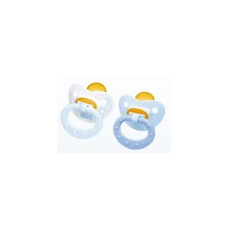 CHUPETE NUK BABY BLUE T-1 2UNIDADES