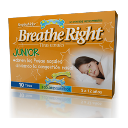 TIRA NASAL BREATH RIGHT JUNIOR NIÑOS 10 U