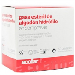 GASA ESTERIL DE ALGODON HIDROFILO 50 UNIDADES