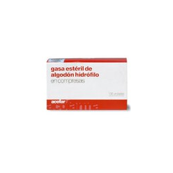 GASA ESTERIL DE ALGODON HIDROFILO 100 UNIDADES