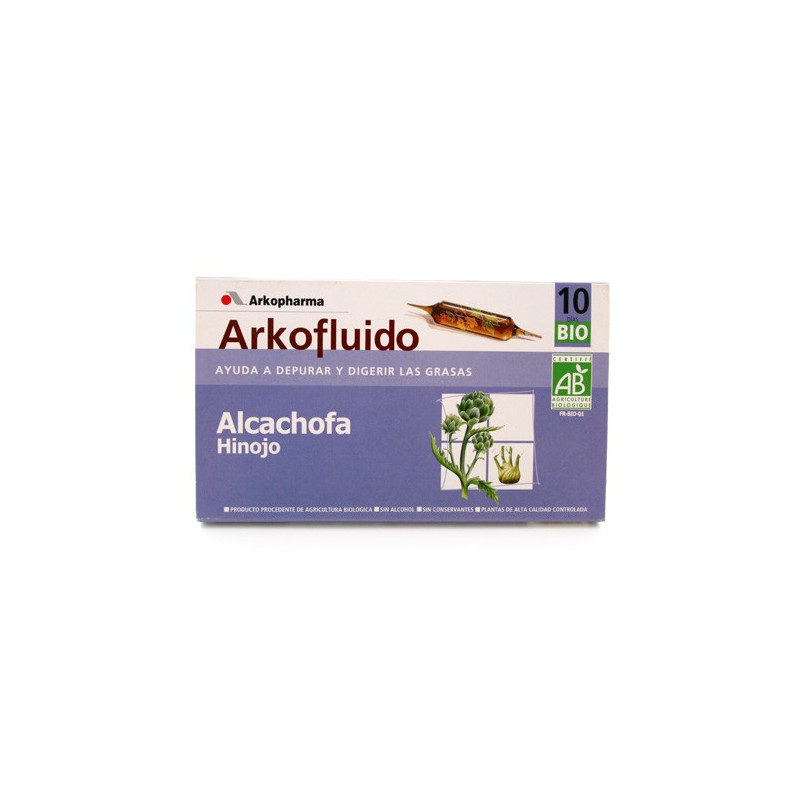 ARKOFLUIDO ALCACHOFA - HINOJO AMPOLLAS BEBIBLES 10 AMP