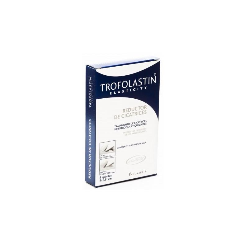 TROFOLASTIN REDUCTOR CICATRICES 5X7,5 5UNIDADES