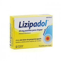 LIZIPADOL 20 mg PASTILLAS...