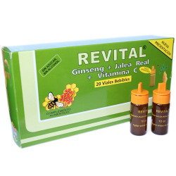 REVITAL GINSENG+JALEA REAL+VITAMINA C 20 AMPOLLAS BEBIBLES
