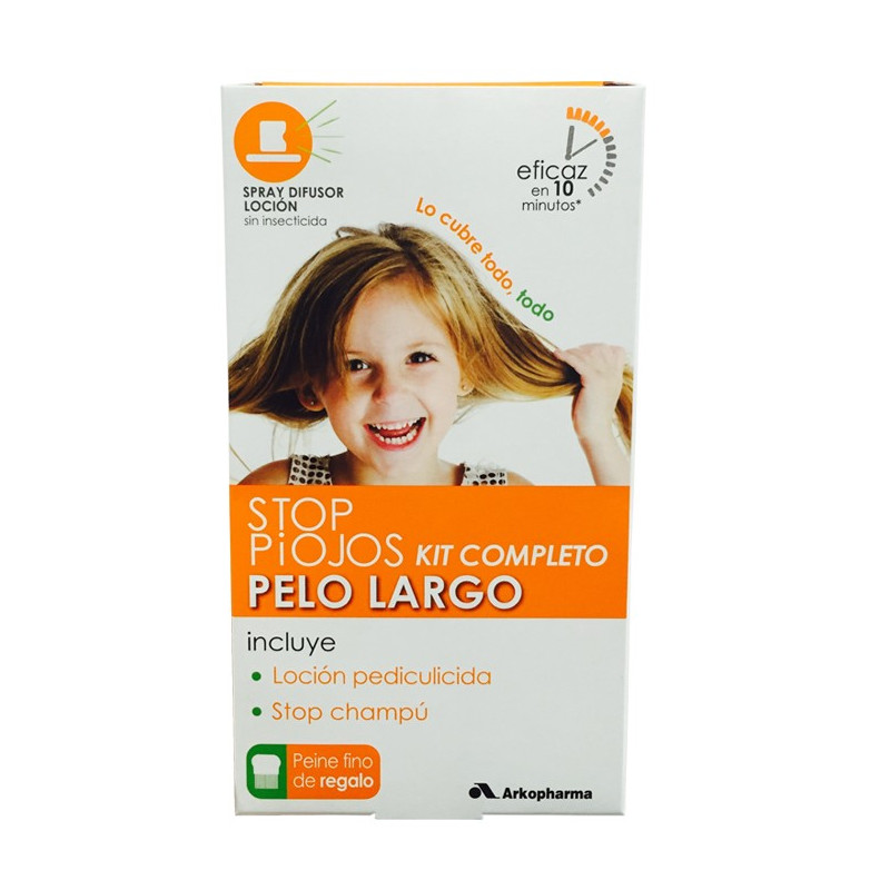 STOP PIOJOS KIT COMPLETO PELO LARGO (LOCION+CHAMPÚ+LIENDRERA)