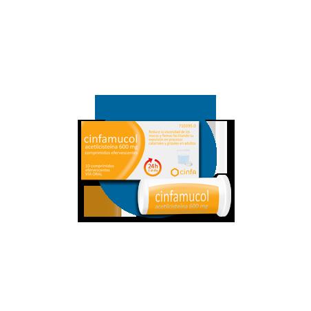 CINFAMUCOL ACETILCISTEINA 600 mg COMPRIMIDOS EFERVESCENTES