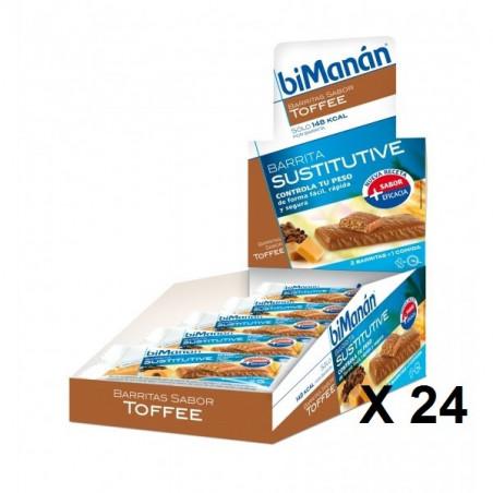 BIMANAN SUSTITUTIVE TOFFEE 24 BARRITAS