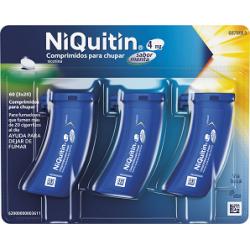 NIQUITIN 4 mg COMPRIMIDOS PARA CHUPAR SABOR MENTA