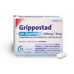 GRIPPOSTAD CON IBUPROFENO Y FENILEFRINA 200mg/5mg 24 COMPRIMIDOS