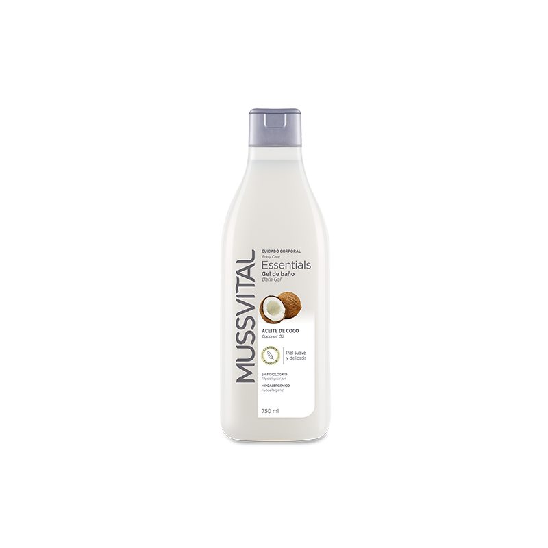 MUSSVITAL ESSENCIALS GEL DE BAÑO ACEITE DE COCO 750 ML
