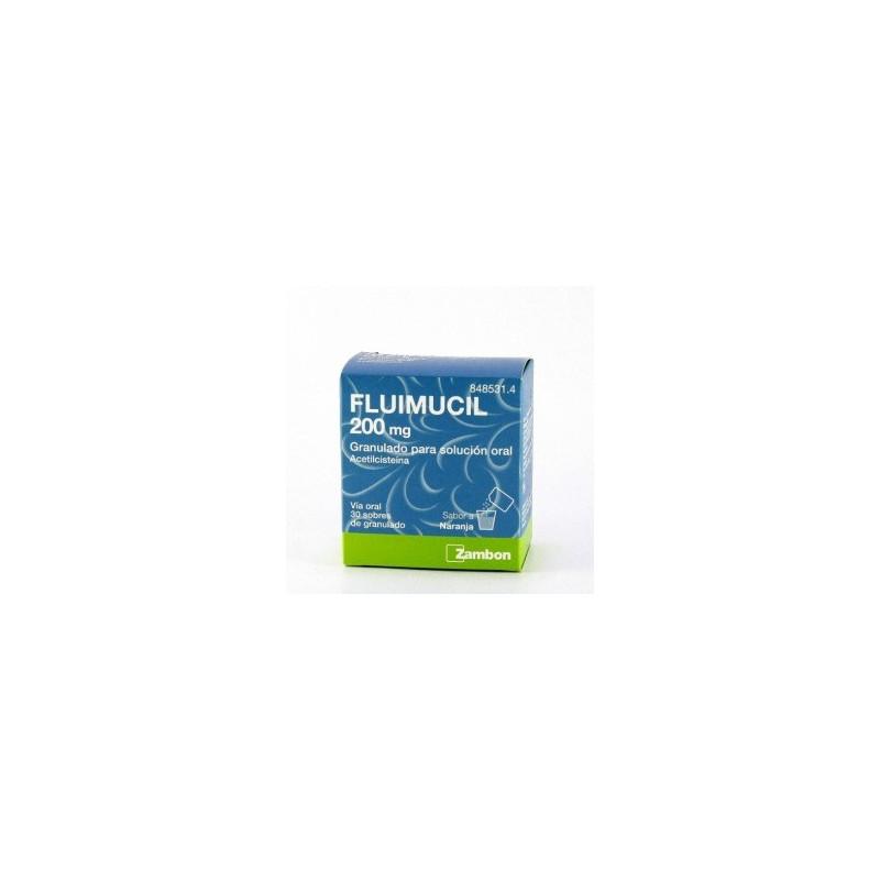 FLUMIL 200 mg GRANULADO PARA SOLUCION ORAL