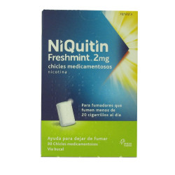 NIQUITIN FRESHMINT 2 mg CHICLES MEDICAMENTOSOS