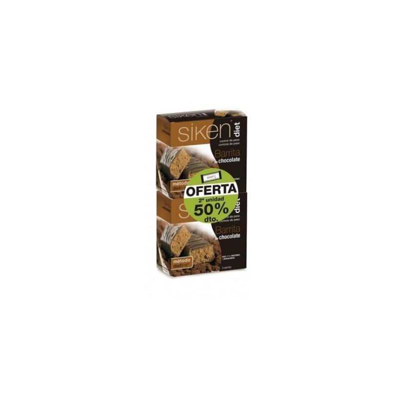 SIKEN DIET PACK OFERTA BARRITA CHOCOLATE 10 UNIDADES