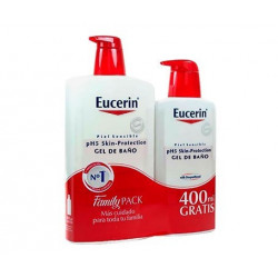 EUCERIN GEL DE BAÑO PIEL SENSIBLE PH-5  1 L + 400ML GRATIS