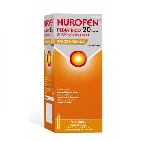 NUROFEN PEDIATRICO 20 MG/ML SUSPENSION ORAL 200 ML NARANJA