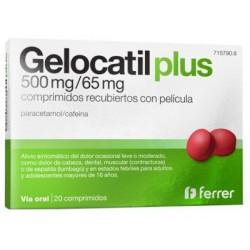 GELOCATIL PLUS 500/65 MG 20 COMPRIMIDOS RECUBIERTOS