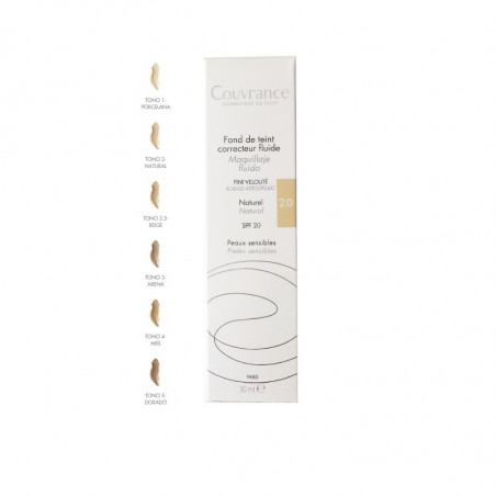 AVENE COUVRANCE MAQUILLAJE FLUIDO COLOR 02 NATURAL 30ML