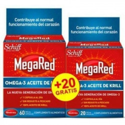 MEGARED OMEGA 3 60 CAPSULAS + 20 CAPSULAS GRATIS