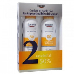 DUPLO EUCERIN SUN PROTECTION FPS50 TRANSPARENT SPRAY TOQUE SECO