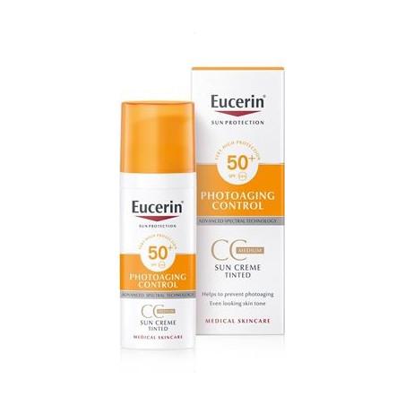 EUCERIN SUN PHOTOAGING CONTROL FPS50+ CC CREAM TODO MEDIO 50ML
