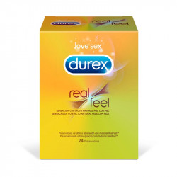 DUREX REAL FEEL 24 UNIDADES