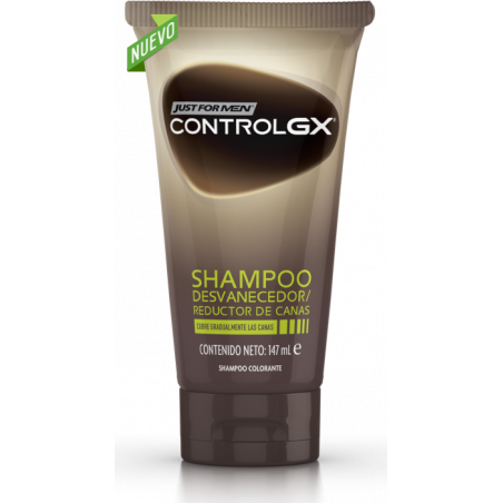 JUST FOR MEN CONTROLGX CHAMPU COLORANTE REDUCTOR CANAS 147ML