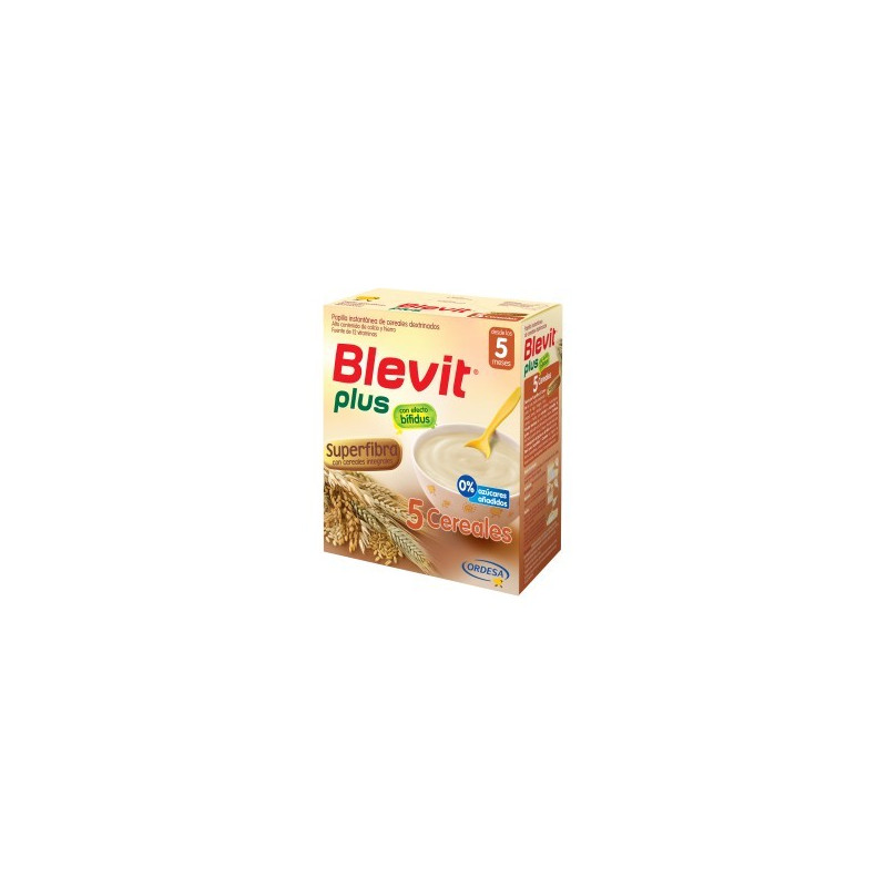 BLEVIT PLUS SUPERFIBRA PAPILLA 5 CEREALES  300 G