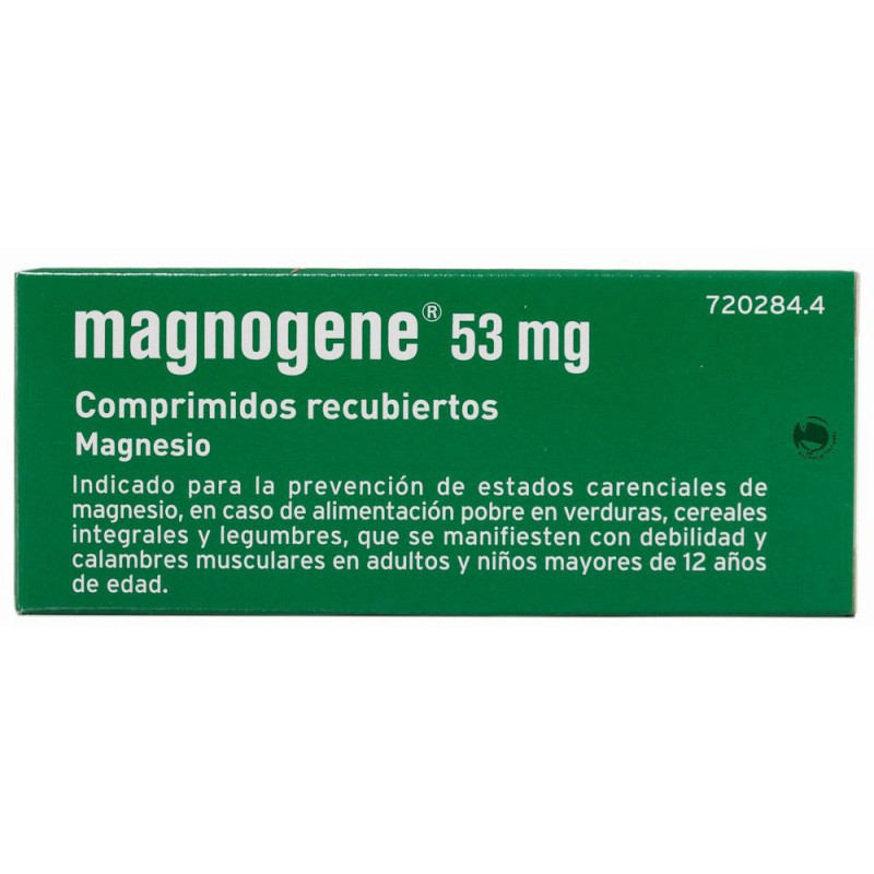 MAGNOGENE 53 mg COMPRIMIDOS RECUBIERTOS