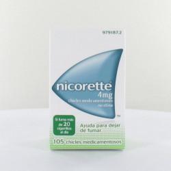 NICORETTE 4 mg CHICLES MEDICAMENTOSOS