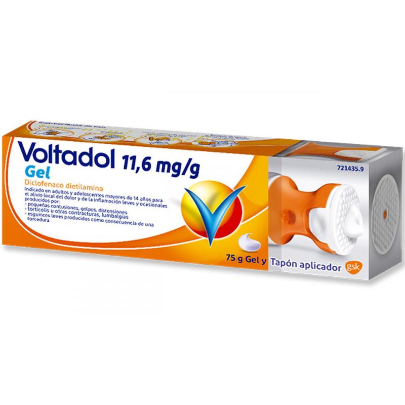VOLTADOL 11.6 MG/G GEL TOPICO 75 G CON TAPON APLICADOR