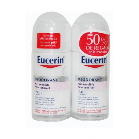 EUCERIN DUPLO DESODORANTE PIEL SENSIBLE ROLL-ON 50 ML