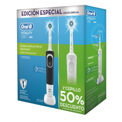 CEPILLO DENTAL ELECTRICO RECARGABLE ORAL B VITALITY CROSS ACTION DUPLO