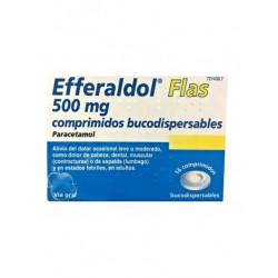 EFFERALDOL FLAS 500 mg COMPRIMIDOS BUCODISPERSABLES