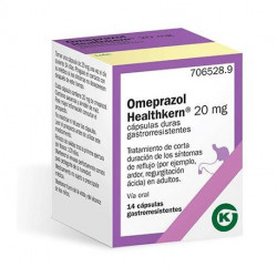 OMEPRAZOL HEALTHKERN 20 mg CÁPSULAS DURAS GASTRORRESISTENTES