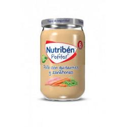 NUTRIBEN POLLO CON GUISANTES Y ZANAHORIAS 235G