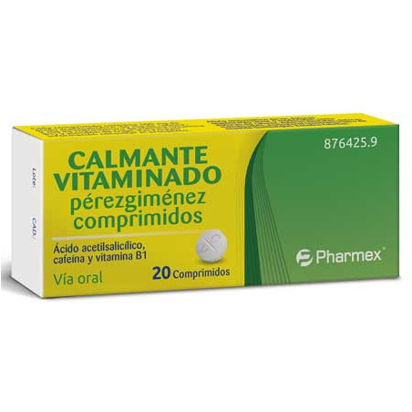 CALMANTE VITAMINADO PEREZGIMENEZ 20 COMPRIMIDOS