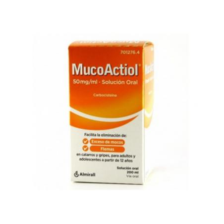 MUCOACTIOL MOCOS Y FLEMAS 50 MG/ML SOLUCIÓN ORAL